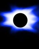 Eclipse blu illustrazione vettoriale