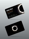 Eclipse calling card. Eclipse business card set vector illustration Royalty Free Stock Images