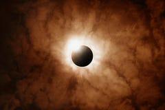 Eclipse cheio de Sun imagens de stock