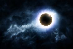 Eclipse in the Clouds royalty free stock photos
