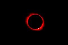 Eclipse completo no ártico Imagens de Stock