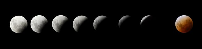 Eclipse da lua fotografia de stock royalty free