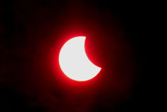 Eclipse da lua imagem de stock royalty free