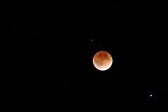 Eclipse da lua do sangue imagens de stock