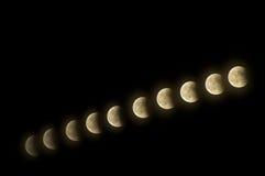 Eclipse de la luna Foto de archivo libre de regalías