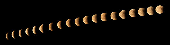 Eclipse de la luna Fotos de archivo libres de regalías