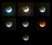 Eclipse de la luna Fotografía de archivo