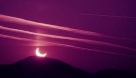 Eclipse de la mañana Fotografía de archivo libre de regalías