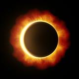 Eclipse de Sun stock de ilustración