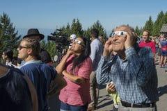 Eclipse de Vancôver, em agosto de 2017 Fotografia de Stock