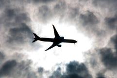 Eclipse del aeroplano foto de archivo libre de regalías