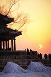 Eclipse del palazzo di estate Fotografia Stock Libera da Diritti