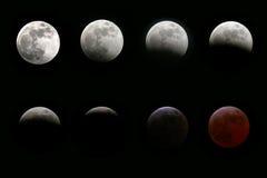 Eclipse della luna Fotografia Stock