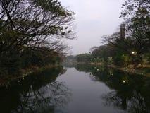 Eclipse at Dhanmondi lake royalty free stock photos