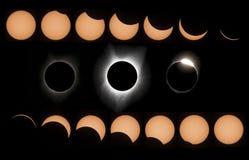 Eclipse do sol Imagens de Stock