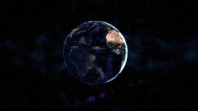 Eclipse and earth in the space.Abstract art background. Astronomy and science concept. Elements of this image furnished by NASA. E. Arth Day theme Stock Photos