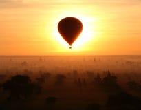 Eclipse In Bagan (Myanmar) Stock Photo