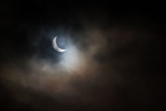 Eclipse Landscape. A solar eclipse with clouds Stock Photography