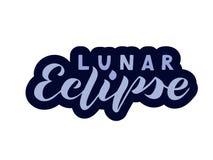 Eclipse lunar da rotulação escrita à mão ilustração stock