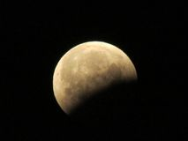 2015 eclipse. Lunar eclipse in the night sky from Oregon Stock Photos