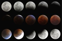 Eclipse lunar total 28aug07 Fotografia de Stock Royalty Free