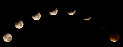Eclipse lunar total 2015 Foto de Stock Royalty Free