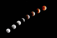 Eclipse lunare totale Fotografie Stock