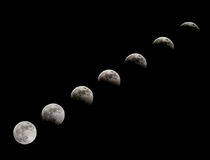 Eclipse moon Stock Photos