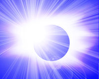 Eclipse in outer space Stock Photos