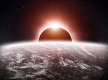 Eclipse on the planet Earth Royalty Free Stock Image