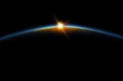 Eclipse - salida del sol lunar Foto de archivo libre de regalías