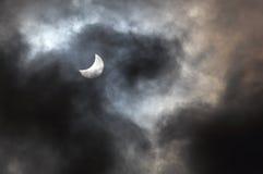 Eclipse solar imagem de stock