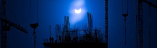 Eclipse solar 20 de março de 2015 (2015/03/20) Fotografia de Stock Royalty Free