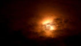 Eclipse solar el 20 de mayo de 2012 Foto de archivo