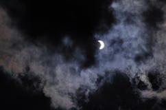 Eclipse solar en la fase 70 fotografía de archivo