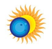 Eclipse solar icono 21 de agosto de 2017 total Imagen de archivo