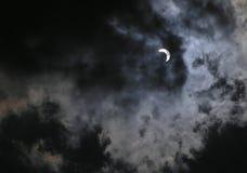 Eclipse solar na fase 70 imagem de stock