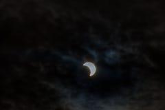 Eclipse solar, New York NY 21 de agosto de 2017 imagens de stock royalty free