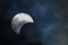 Eclipse solar parcial Fotografía de archivo libre de regalías