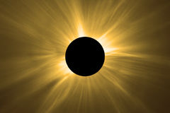 Eclipse solar total Fotografia de Stock Royalty Free