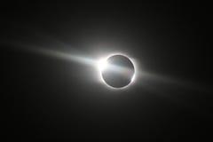 Eclipse solar total em Novosibirsk Foto de Stock