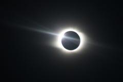 Eclipse solar total em Novosibirsk Imagem de Stock