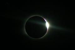 Eclipse solar total em Novosibirsk Imagens de Stock