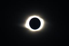 Eclipse solar total en Novosibirsk Imagen de archivo libre de regalías