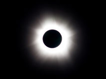 Eclipse solar total - totalidade fotografia de stock