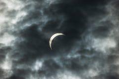 Eclipse solare 2008 Fotografie Stock Libere da Diritti