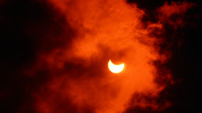 Eclipse solare Fotografie Stock