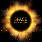 Eclipse solare di vettore Fotografie Stock Libere da Diritti