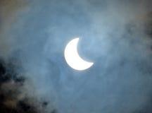 Eclipse solare parziale Fotografie Stock Libere da Diritti