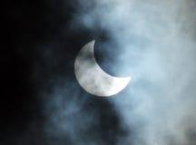 Eclipse solare parziale Immagini Stock